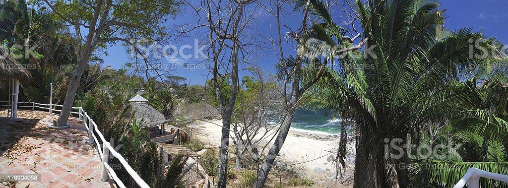 Huge panorama : Living on beach royalty-free stock photo