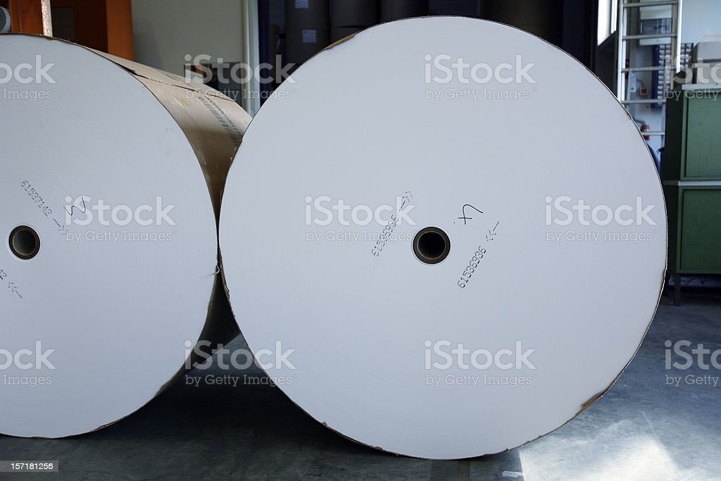 Huge paper rolls royalty-free stock photo