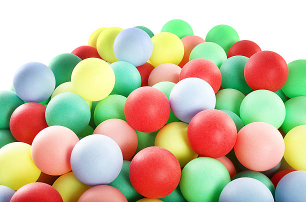 Huge pile of colorful balls stock photo