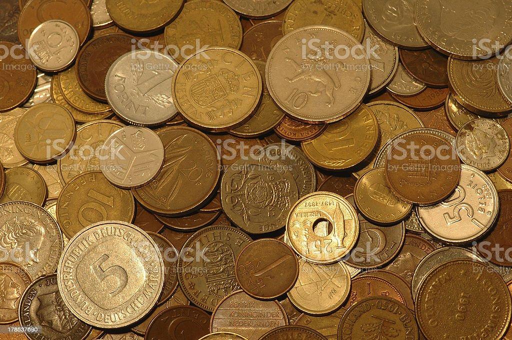 Huge pile of money, version deux. stock photo
