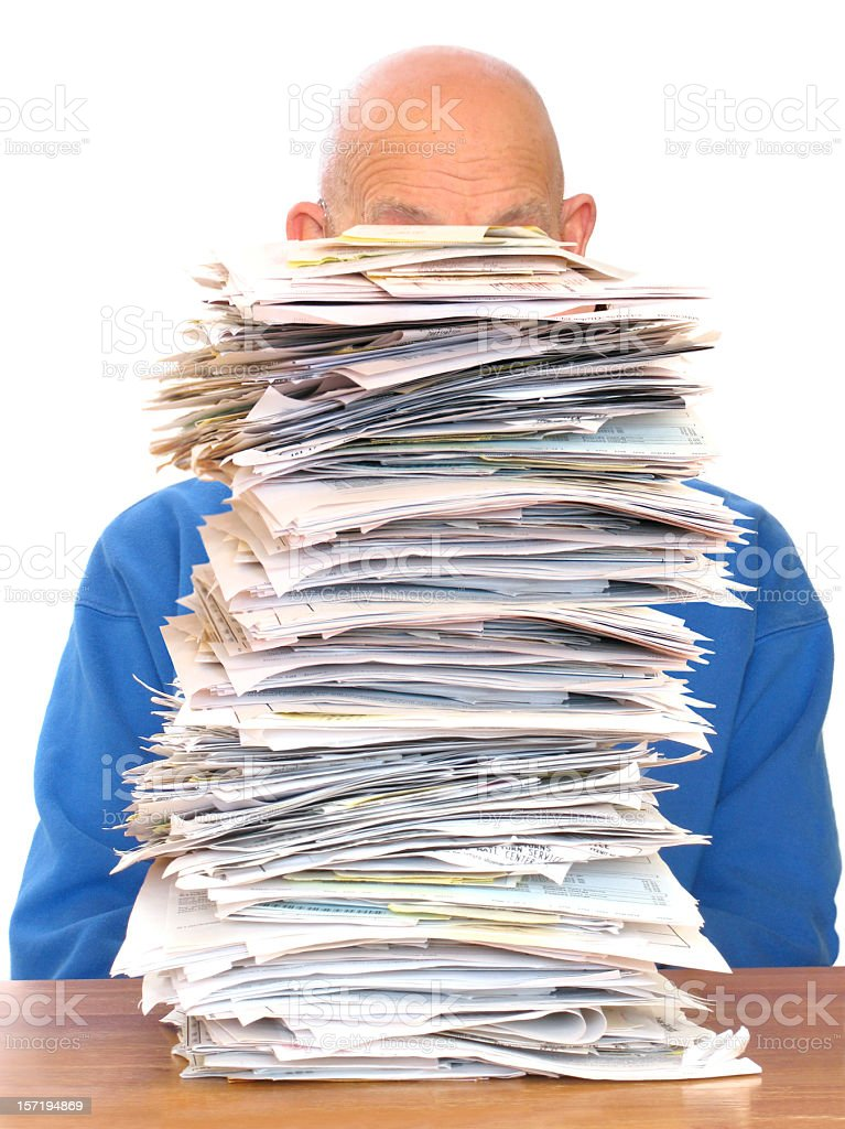 Huge Pile of Paperwork royalty-free stock photo