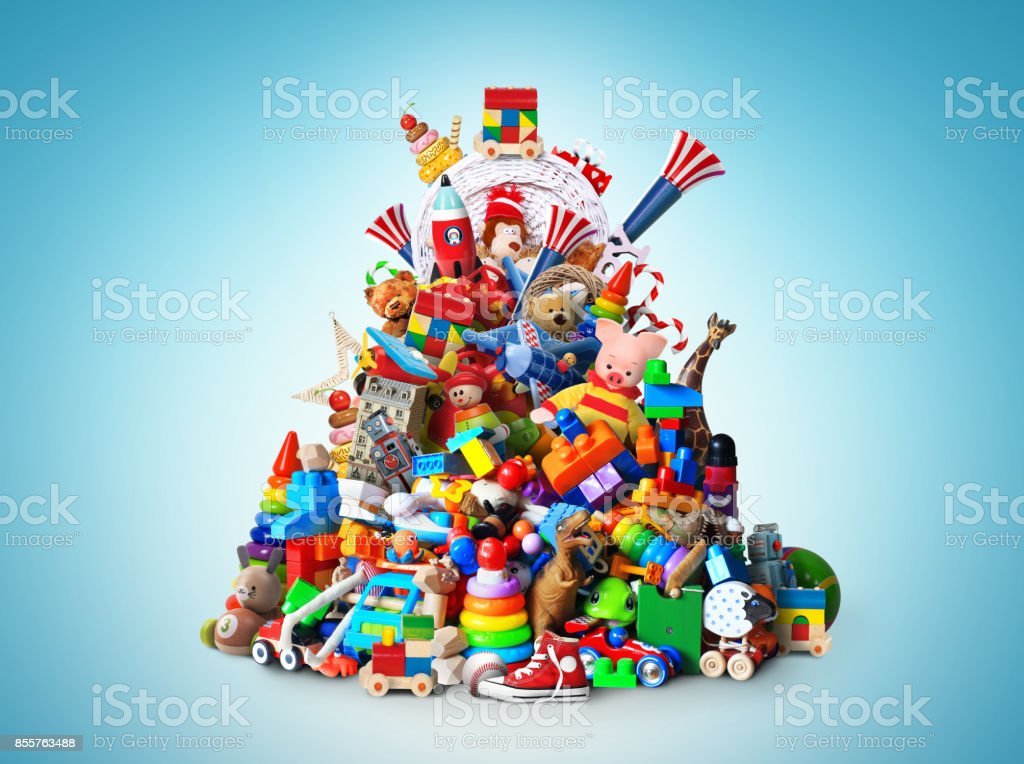Huge pile of toys royalty-free stock photo