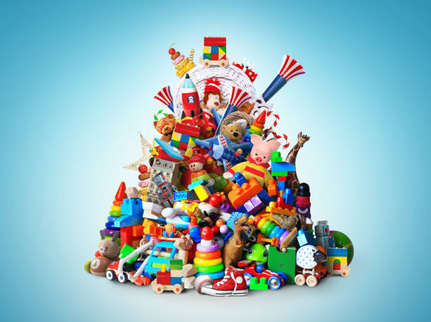 Huge pile of toys stock photo