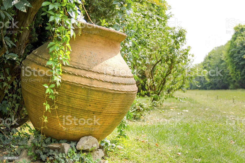Huge pot in the park royalty-free stock photo