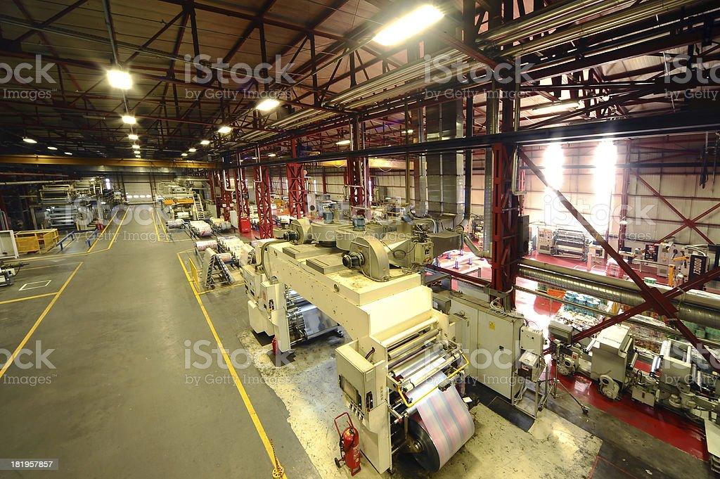 Huge printing plant stock photo