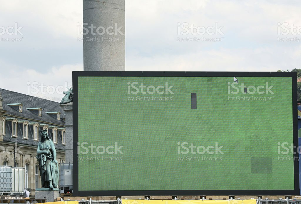 Huge public viewing screen stock photo