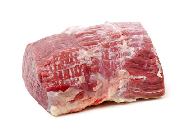 huge red meat chunk isolated over white background – zdjęcie