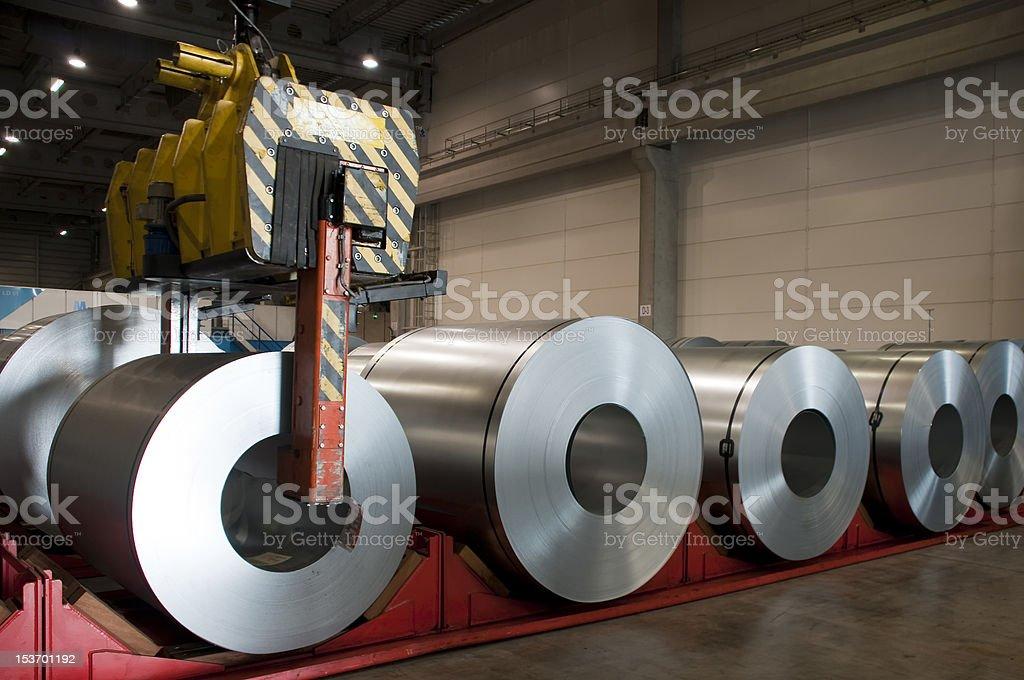 Huge rolls of tinplate royalty-free stock photo
