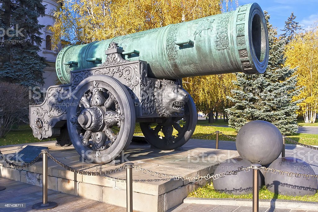 Huge Russian Cannon stock photo
