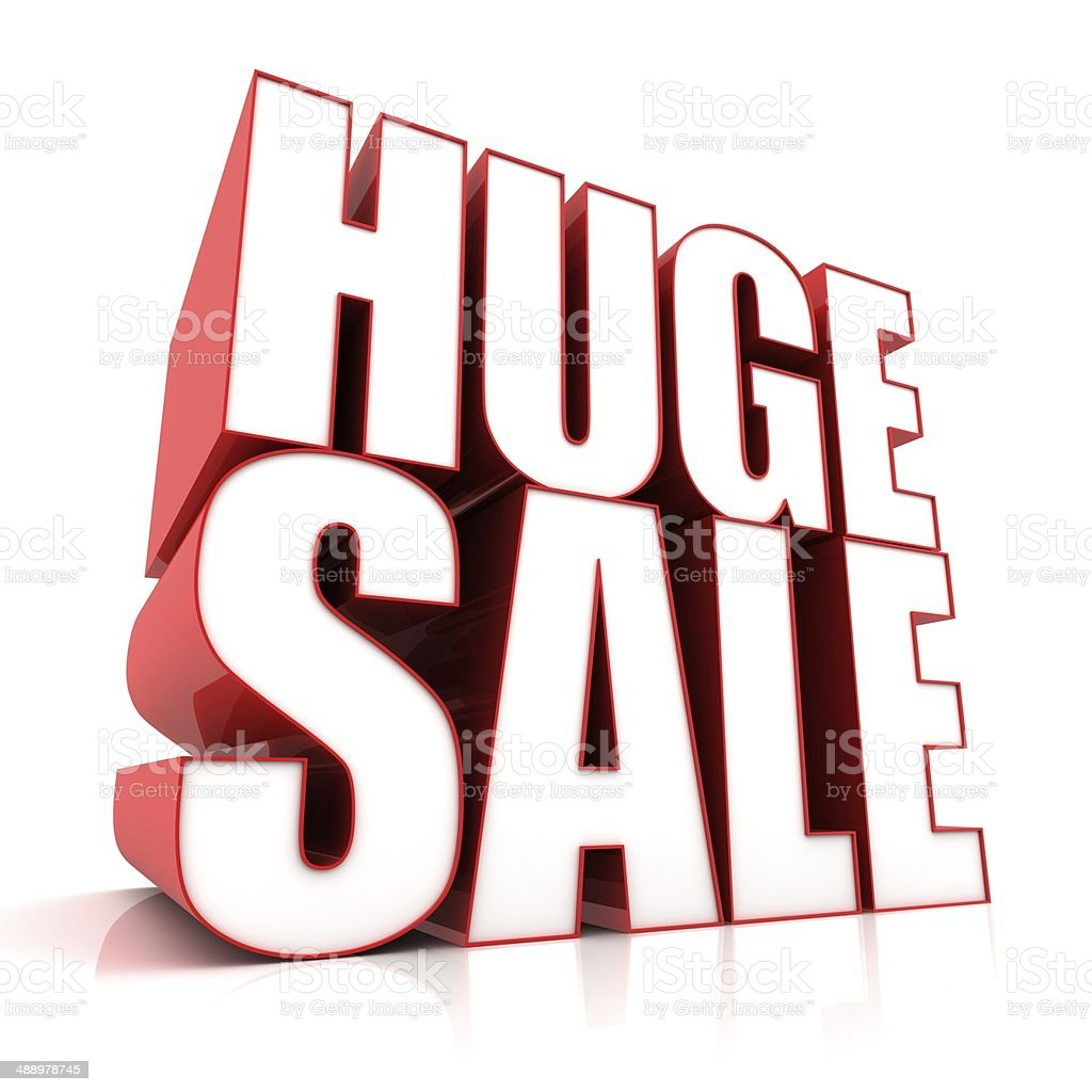 Huge Sale stock photo