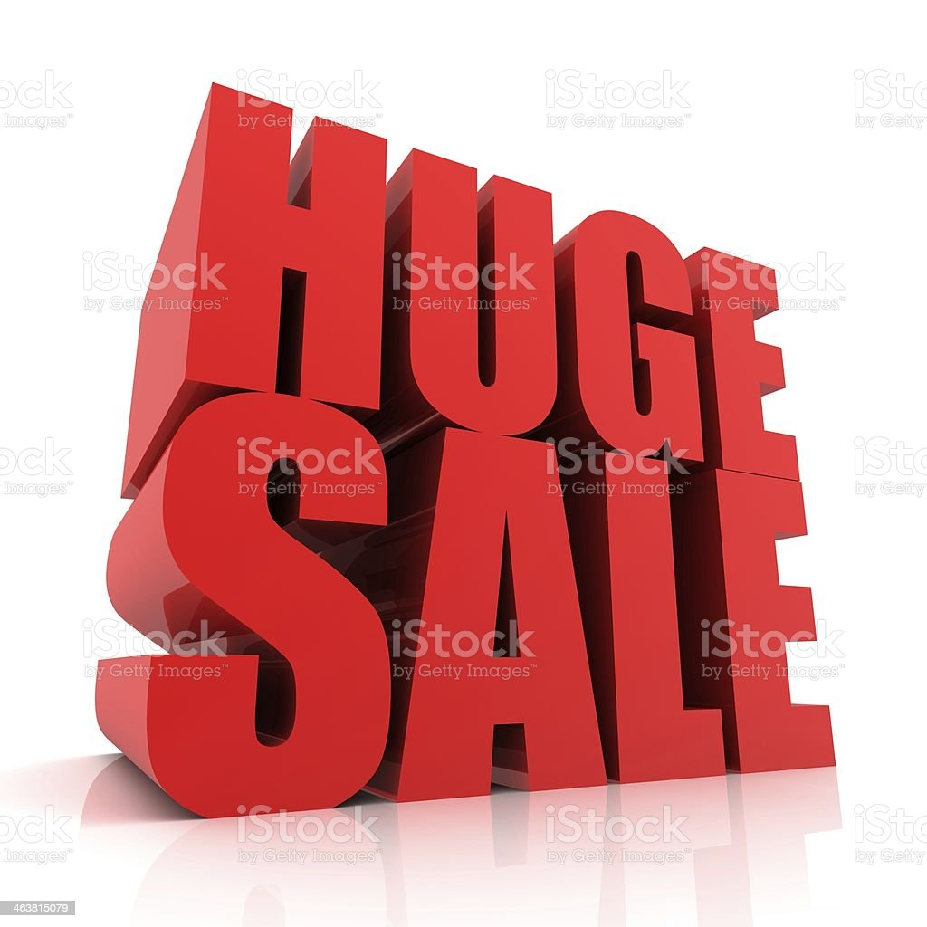 Huge Sales Event stock photo