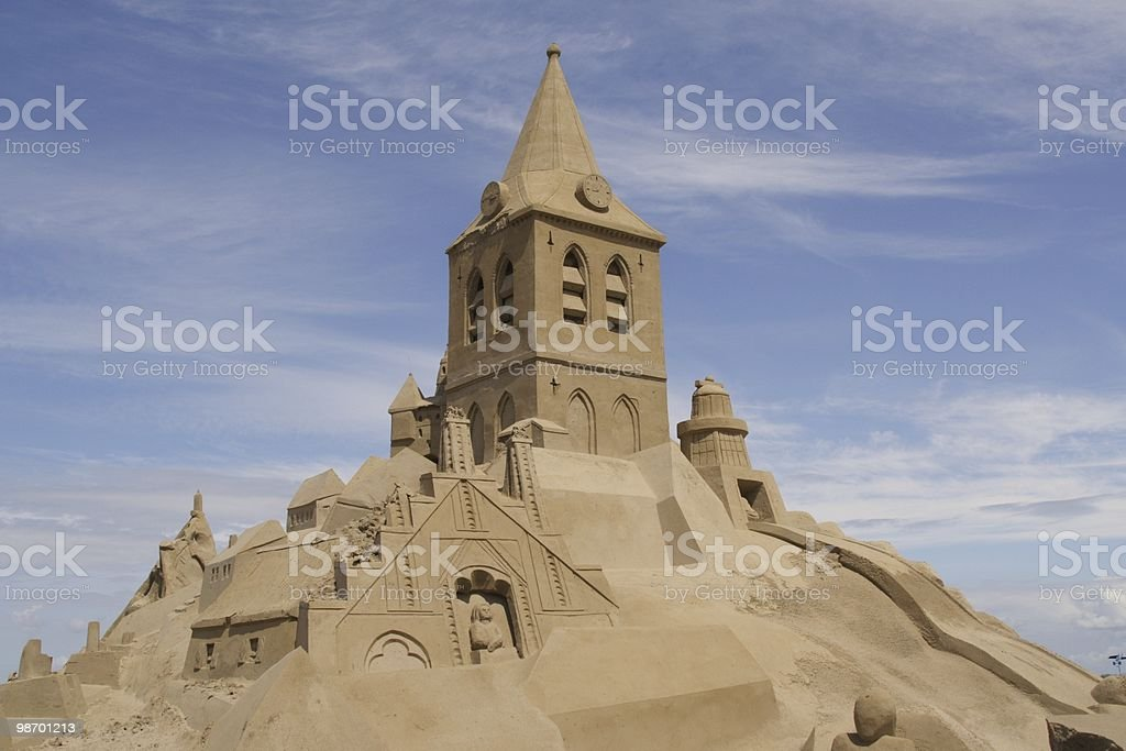 Huge sandcastle royalty-free stock photo