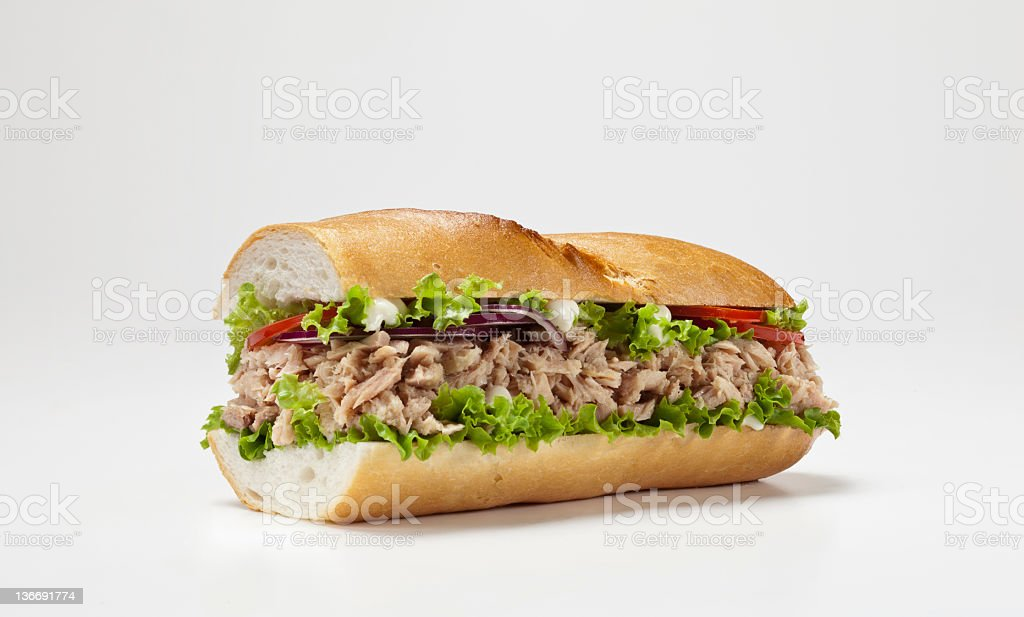 huge sandwich isolated on white background royalty-free stock photo