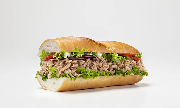 huge sandwich isolated on white background big sandwich submarine sandwich stock pictures, royalty-free photos & images