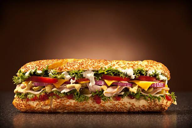 huge sandwich big huge sandwich submarine sandwich stock pictures, royalty-free photos & images