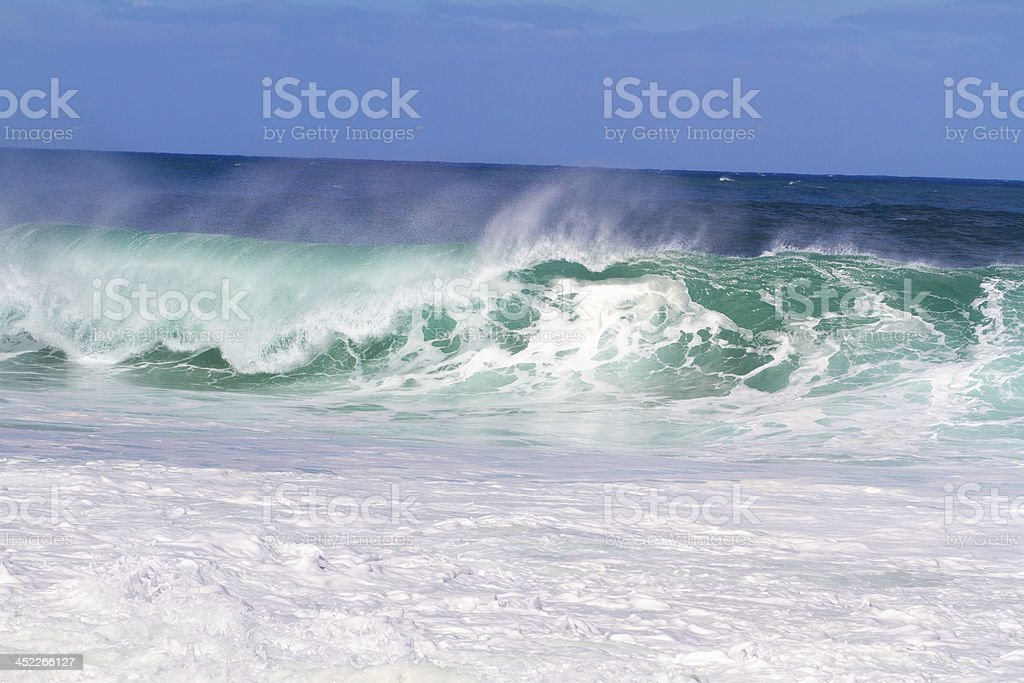 Huge Sets of Waves in Oahu royalty-free stock photo