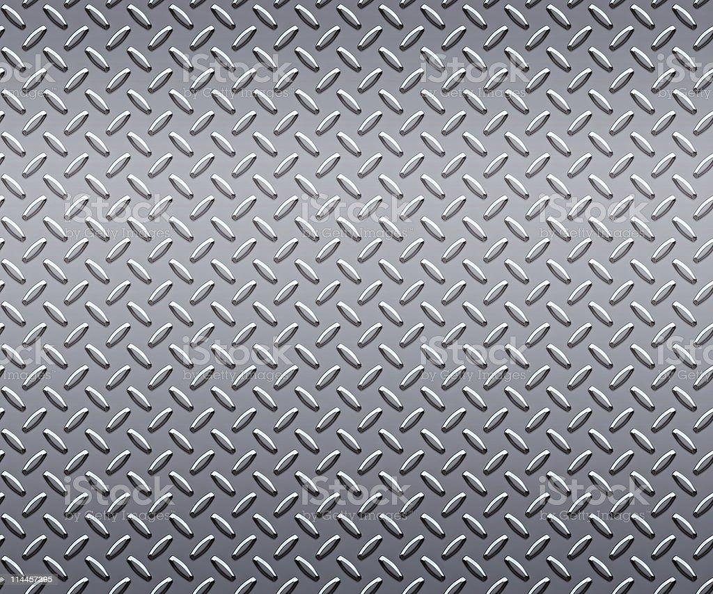 huge sheet of strong steel diamond or tread plate stock photo