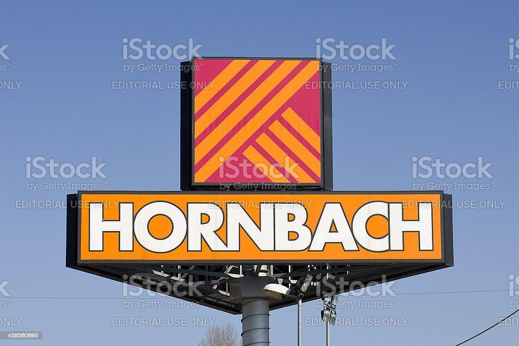 Große Zeichen der deutschen Hornbach hardwood – Foto