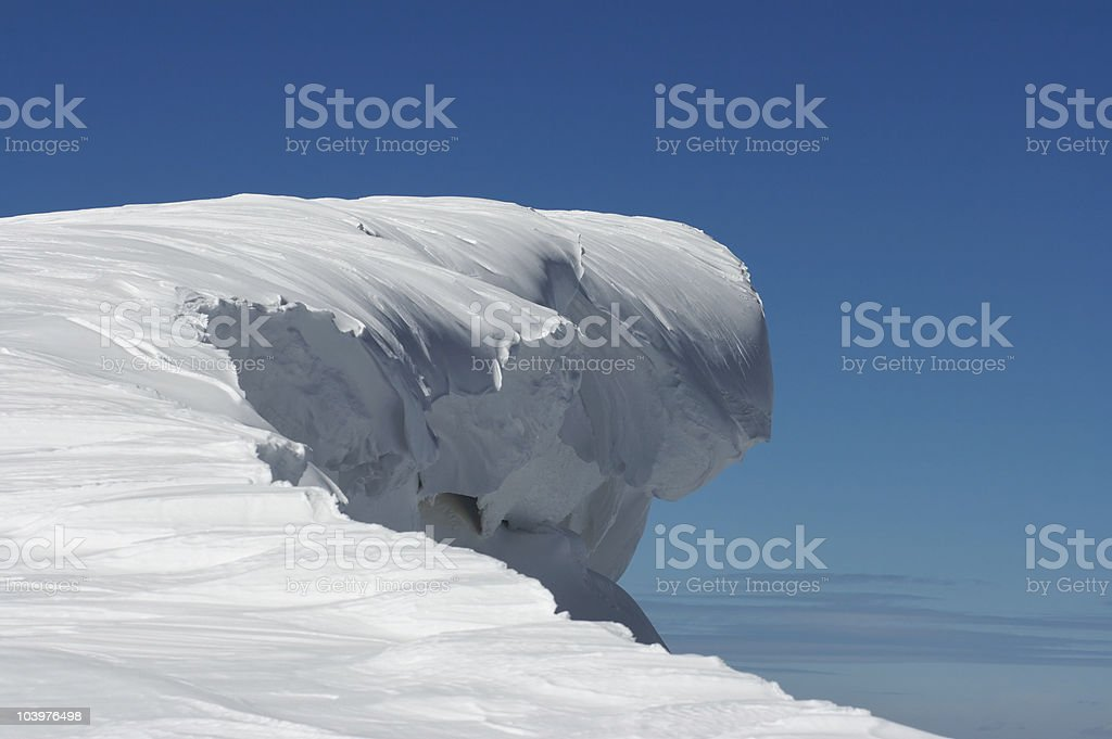 Huge snow fairy figure royalty-free stock photo