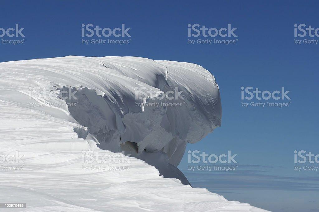 Huge snow fairy figure stock photo