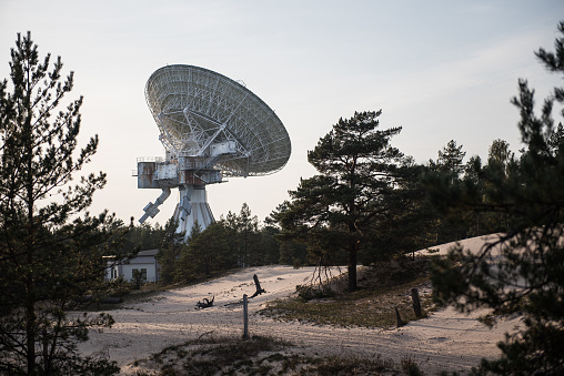 A huge soviet radio telescope near abandoned military town Irbene