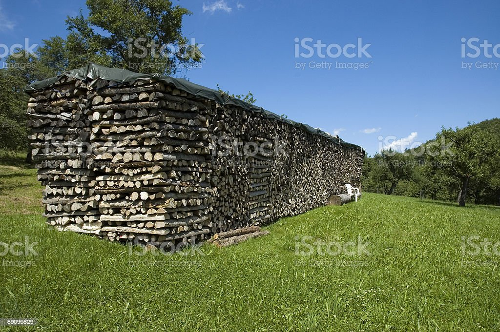 Gran apilado de madera foto de stock libre de derechos
