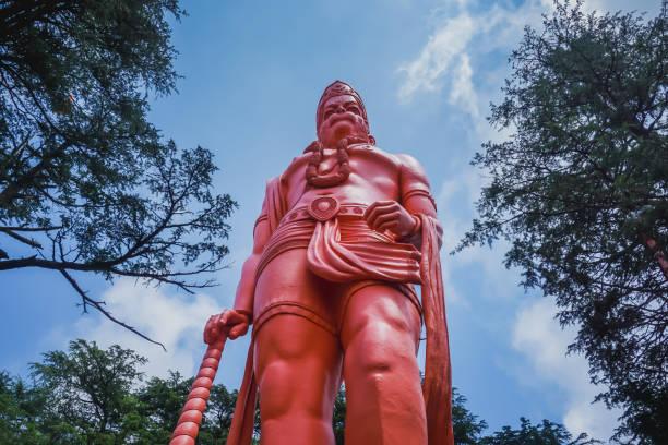 A huge statue of Hanuman. Shimla, India A huge statue of Hanuman. Shimla, India hanuman stock pictures, royalty-free photos & images
