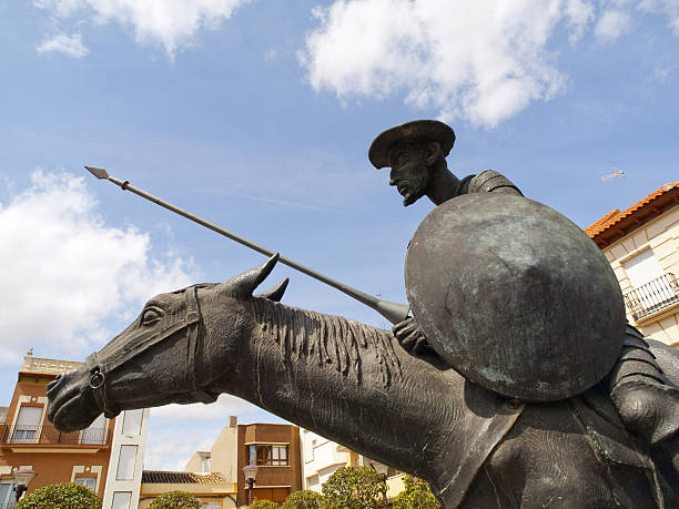 Huge statue on horse of Don Quixote