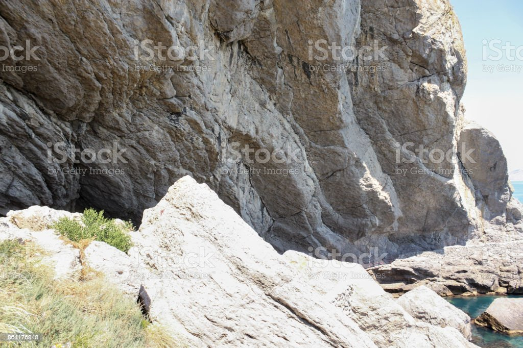 A huge stone rock. royalty-free stock photo