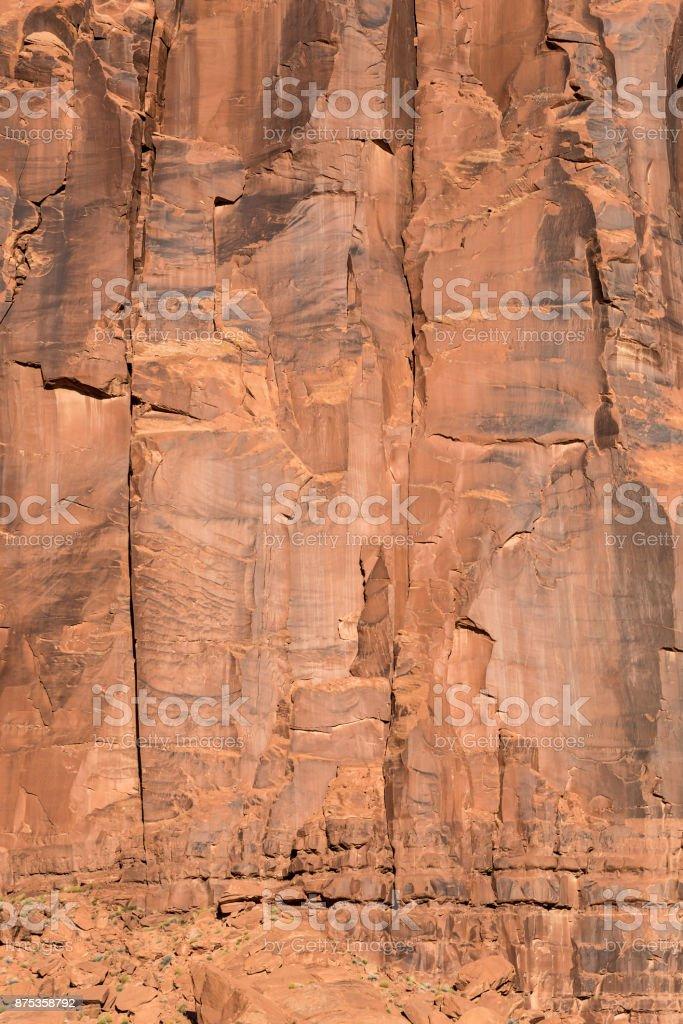 Huge stone wall stock photo
