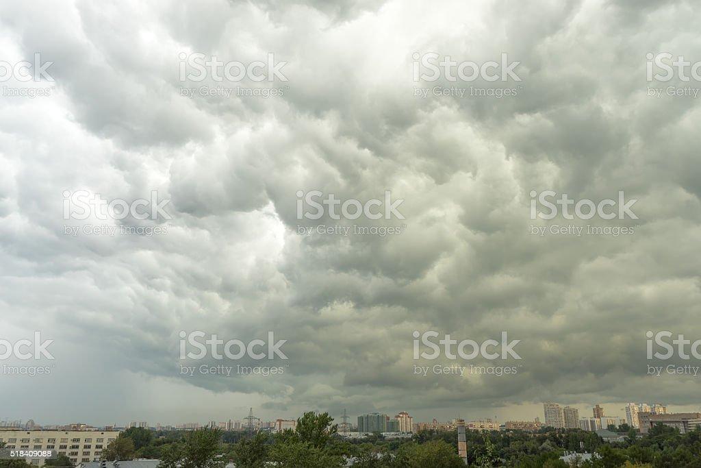 Huge storm cloudscape background stock photo