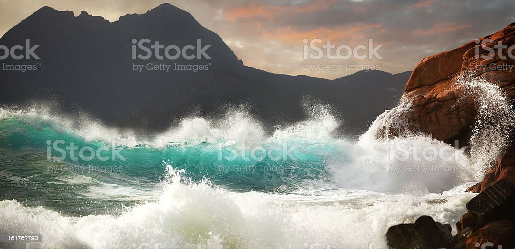Huge Storm Surf stock photo
