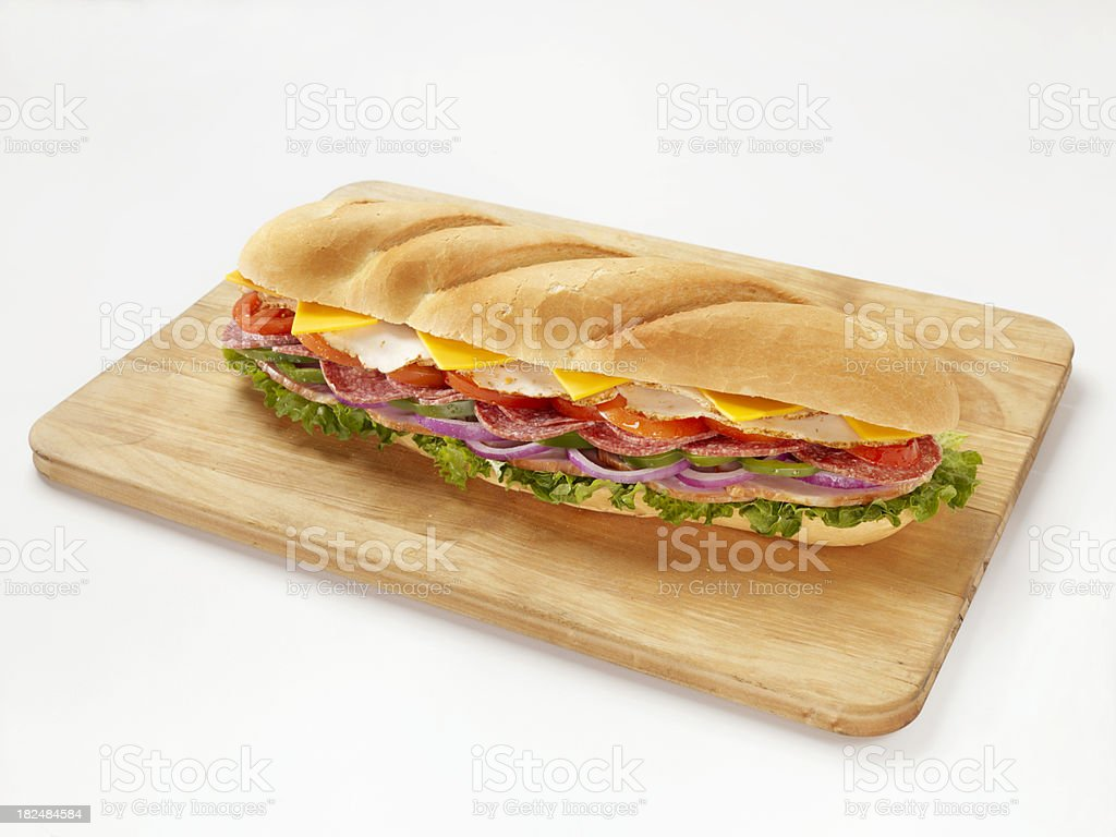 Huge Submarine Sandwich royalty-free stock photo
