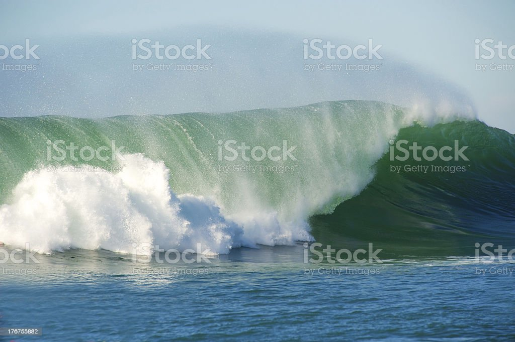 Huge surf crashing at Half Moon Bay California stock photo