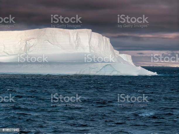 Huge Tabular Iceberg Floating In Bransfield Strait At Susnet Antarctica Stock Photo - Download Image Now