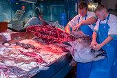 huge tuna at seafood market in Cork