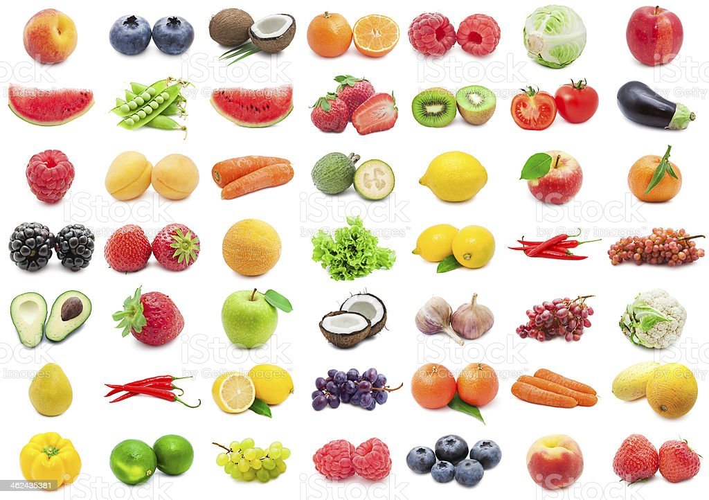 A huge variety of fruits and vegetables royalty-free stock photo