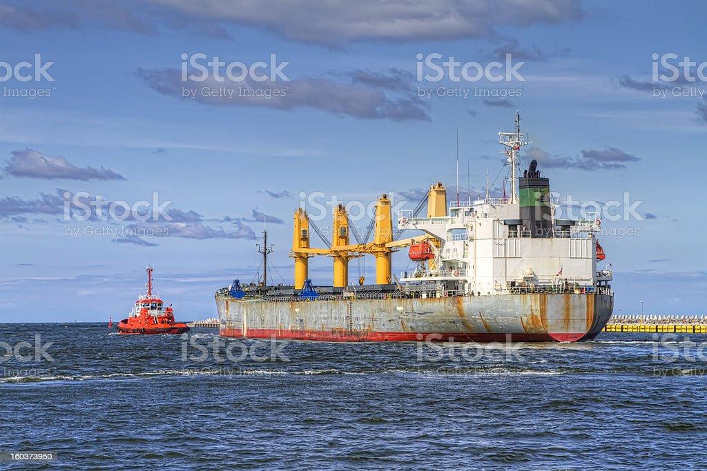 Huge Vessel royalty-free stock photo