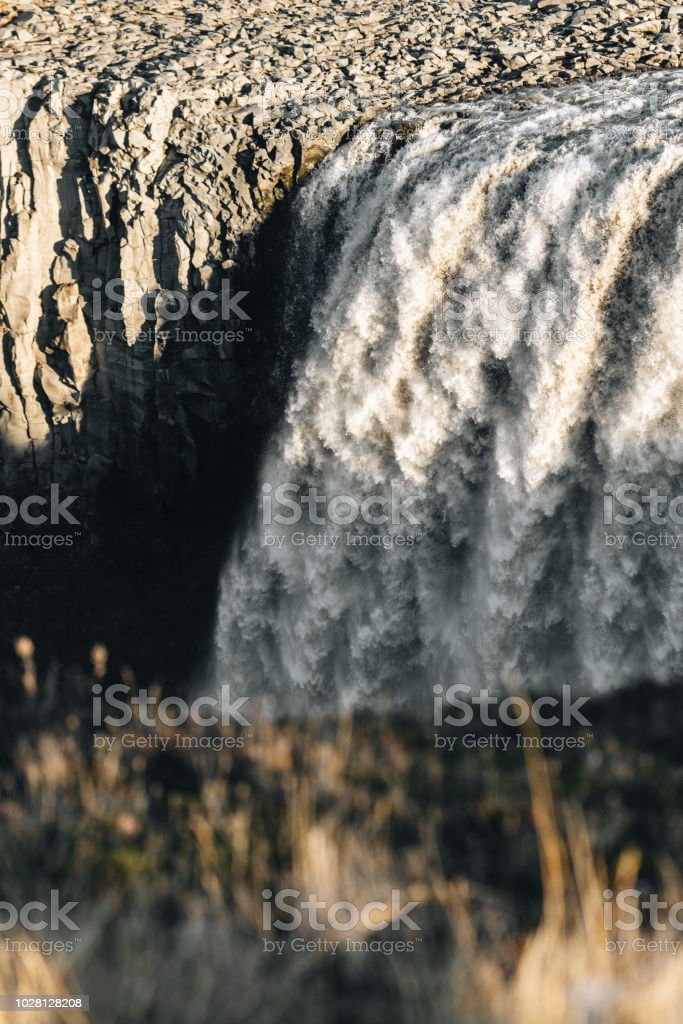 Huge waterfall in Iceland Huge waterfall in Iceland Cliff Stock Photo