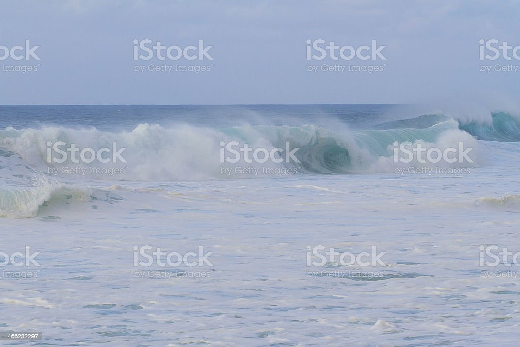 Huge Wave Break During Storm royalty-free stock photo