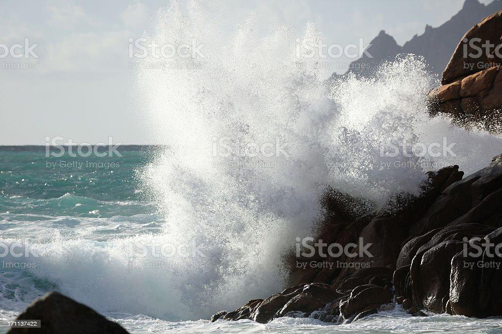 Huge Wave Splash stock photo