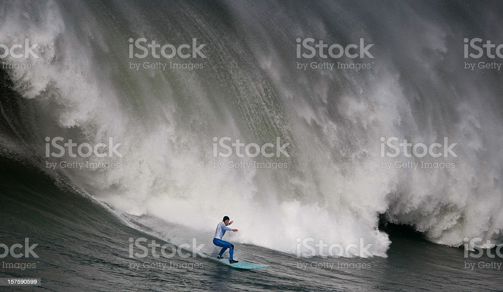 Huge Wave Surfing stock photo