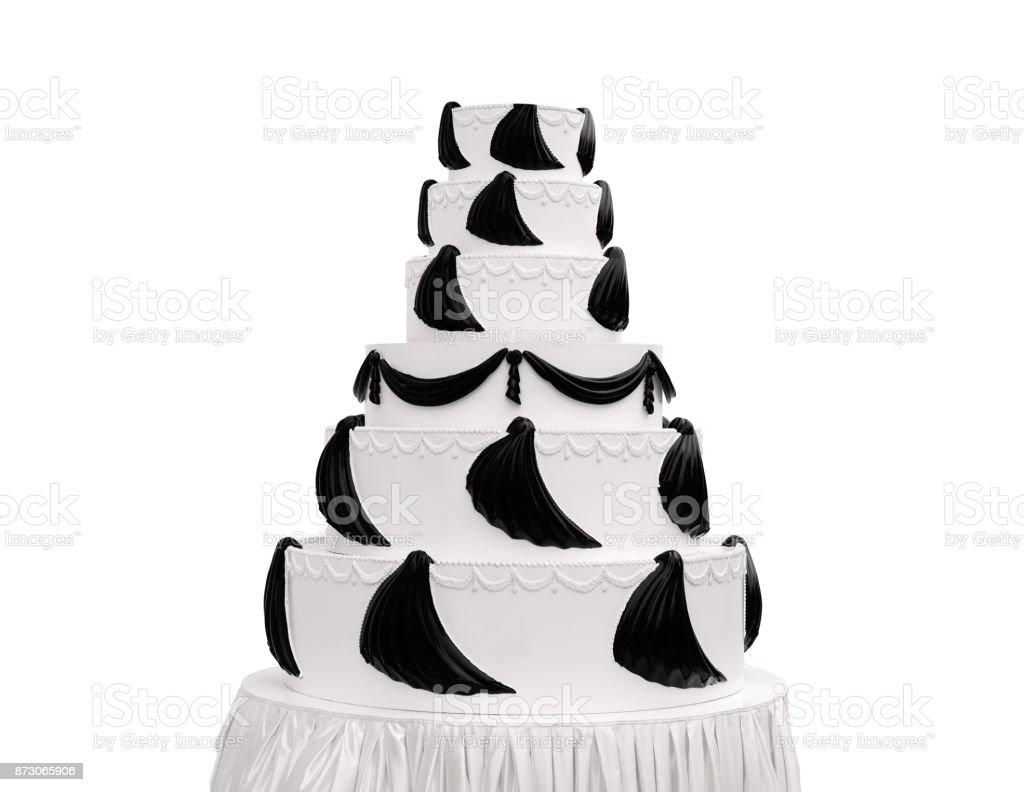 huge wedding cake stock photo