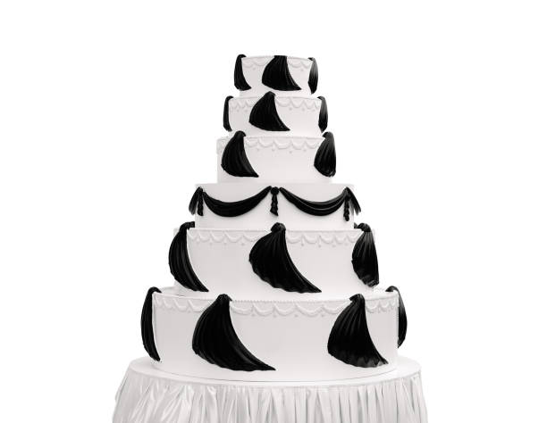 huge wedding cake - big cake stock photos and pictures