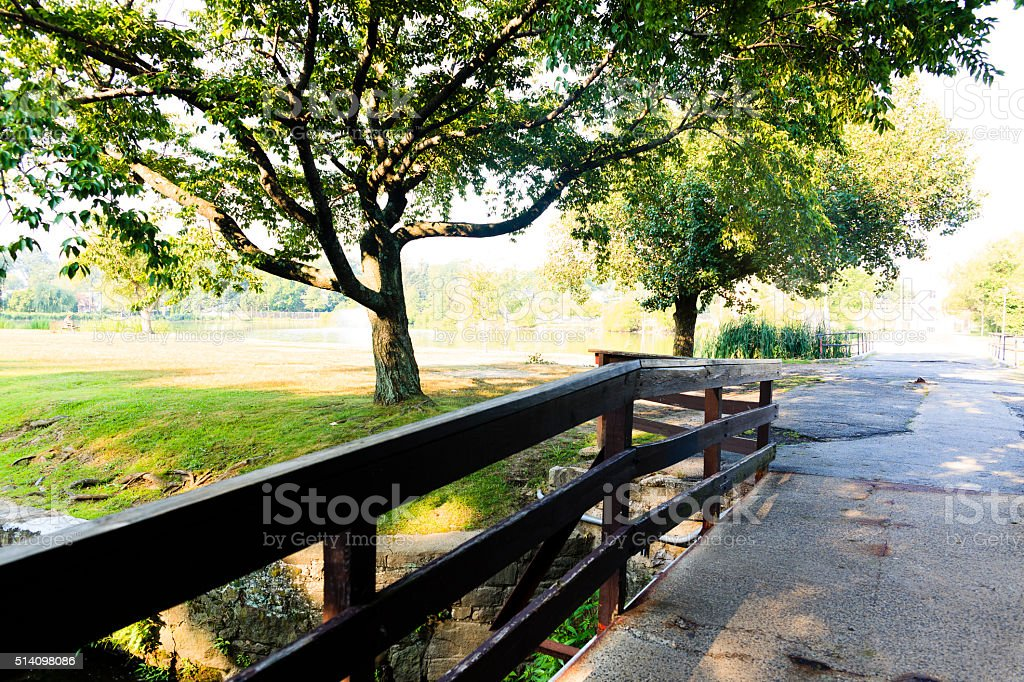 Hugenot Park in New Rochelle, Westchester, New York State stock photo