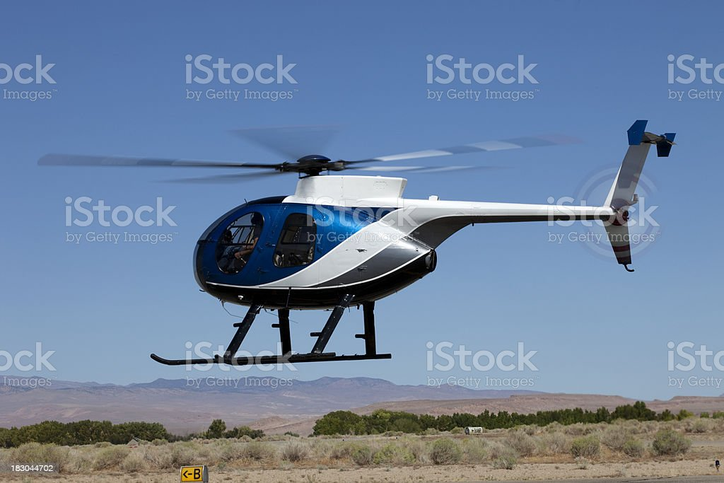Huges 500 Helicopter royalty-free stock photo