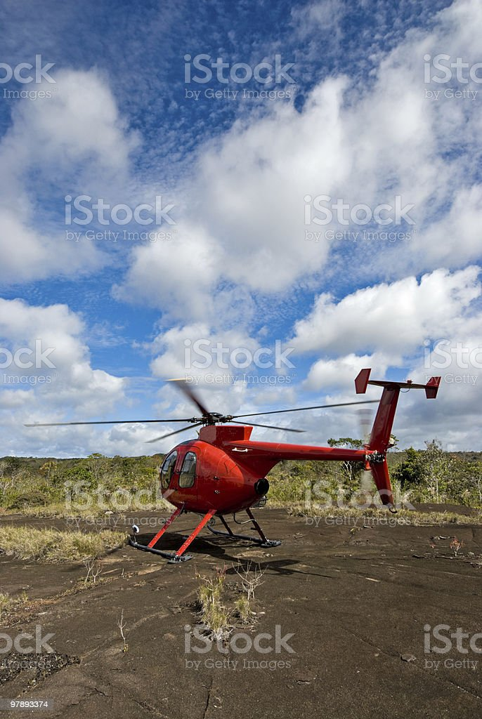 Huges Helicopter stock photo
