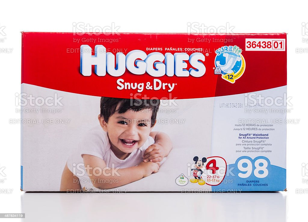 Huggies Snug & Dry stage 4 diapers box