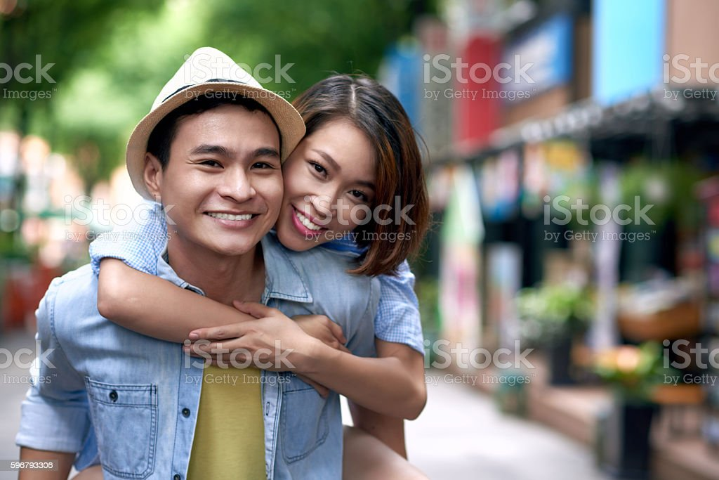 Hugging couple stock photo
