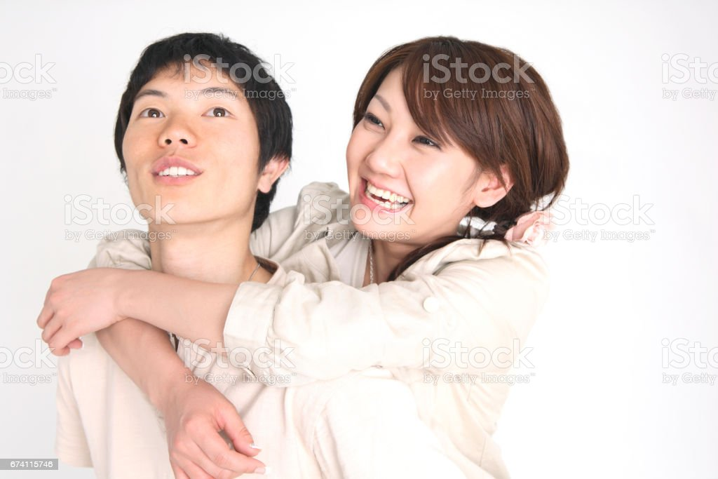 Hugging her royalty-free stock photo